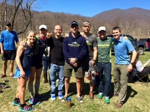 The Crozet Running Ultrarunning Team, with RD Clark Zealand